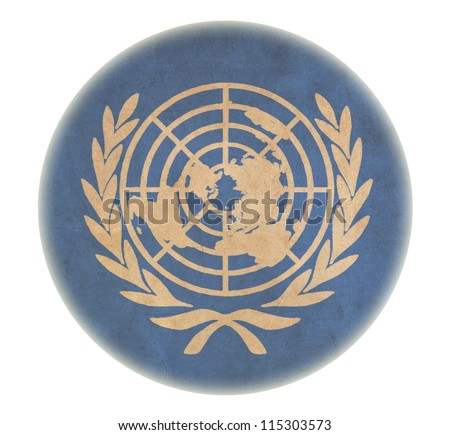 grunge United Nations flag drawing button