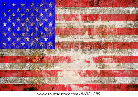 Grunge USA flag theme background and texture