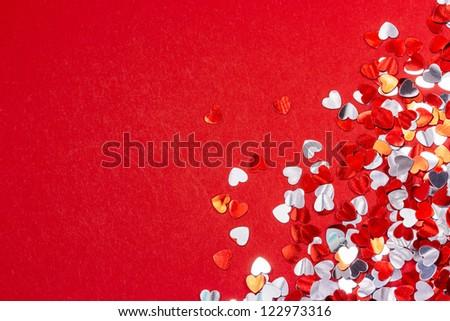 Grunge Valentine's day heart glitter background