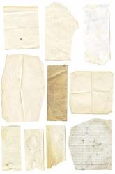 Grunge vintage paper scraps