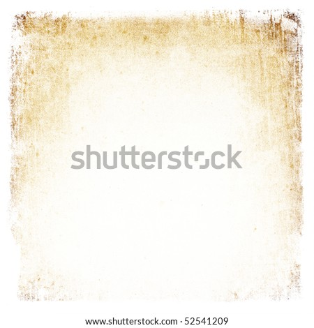 Grunge vintage paper square frame background.