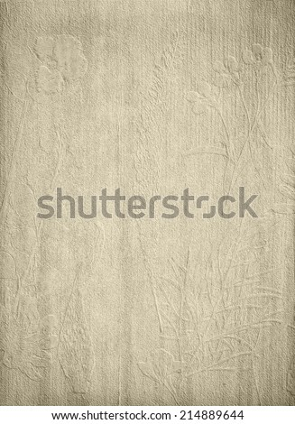 grunge vintage paper textures with floral print