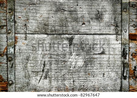 Grunge weathered and old distressed antique wood box background - stock photo