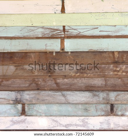 Grunge Wood panels with old painted for background