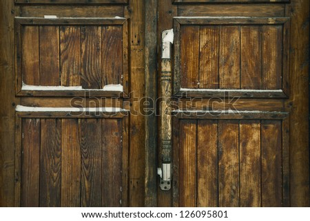 grunge wooden fence with lock