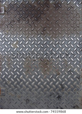 grunge worn metal surface with a pattern