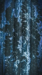 Grungey and rustic abstract background and texture in blue and cold tones image.