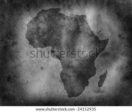 Grungy Africa map