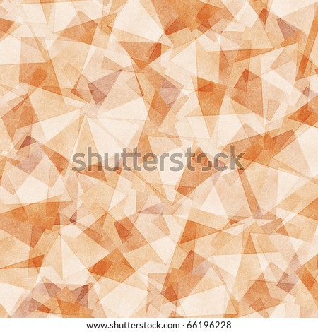 Grungy and grainy bleached abstract  background in light pastel colors, made of intersecting geometric figures and vintage paper texture