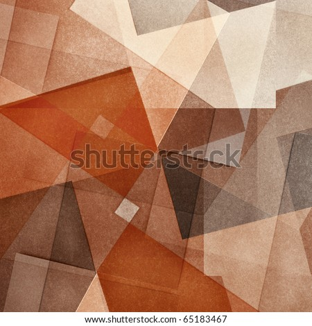 Grungy and grainy bleached abstract color background, made of intersecting geometric figures, vintage paper texture in square shape #65183467