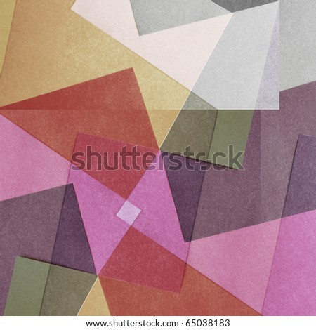 Grungy and grainy bleached abstract color background, made of intersecting geometric figures and lines, vintage paper texture in square shape