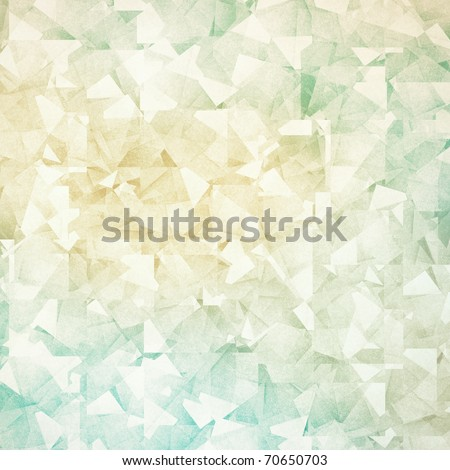 Grungy and grainy bleached abstract color background, made of many intersecting geometric figures, vintage paper texture