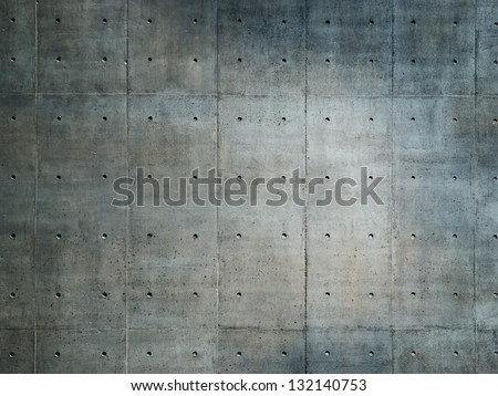Grungy and smooth bare concrete wall.