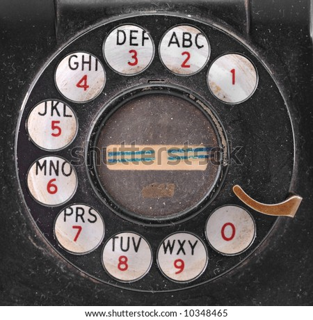 Grungy Antique Telephone Dial (from an 1940's telephone).