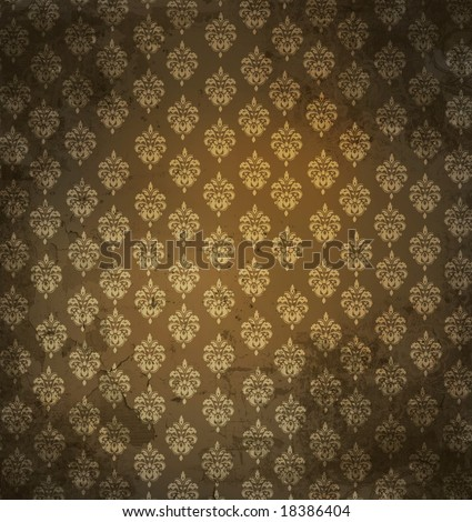 Grungy antique wallpaper background