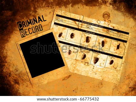 Grungy Blank Police Criminal Record File And Photo