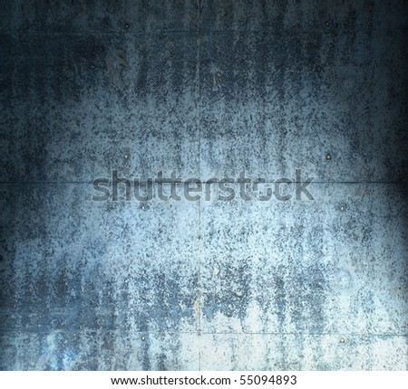 Grungy blue stone wall