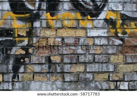 Grungy brick wall background