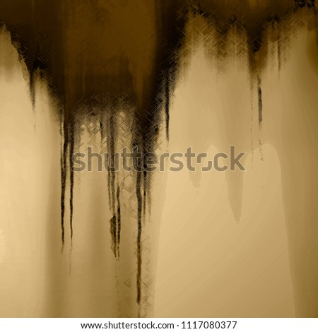 Grungy brown dripping effect on earthy tone background