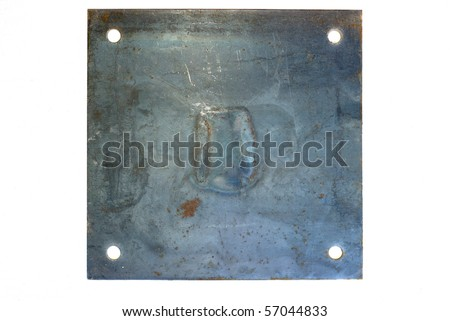 Grungy brushed rusty metal sign