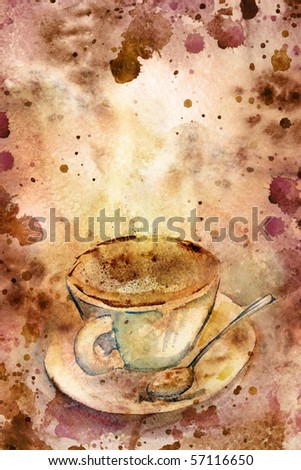 Grungy coffee background. Beautiful paper texture.