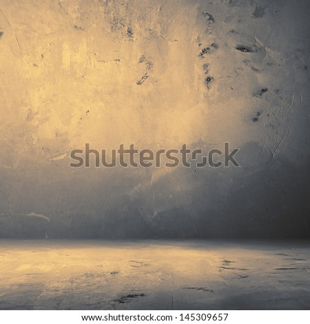 Grungy concrete room, distressed background