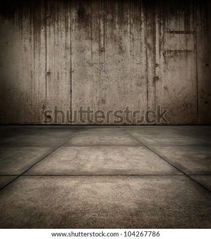 Grungy concrete room texture