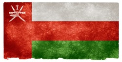 Grungy Flag of Oman on Vintage Paper