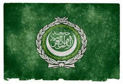 Grungy Flag of the Arab League on Vintage Paper