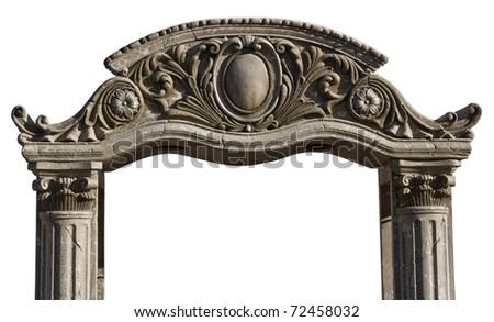 Grungy, gothic arch cutout
