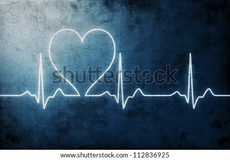 grungy heart beat