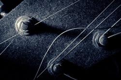Grungy old guitar machine heads.