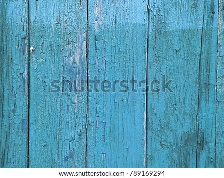 Grungy peeling dark slate gray, light sky blue and steel blue painted rough wall texture with scratches #789169294