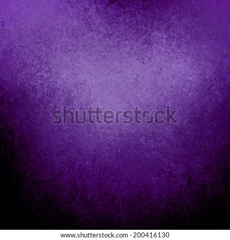 grungy purple black background with grunge texture border, deep purple corner spotlight or sunshine pattern on wall. vintage purple black frame design, old distressed shabby background layout