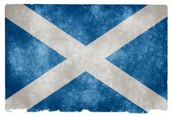 Grungy Scottish Flag on Vintage Paper