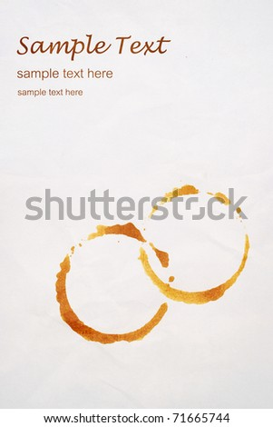 Grungy stains coffee on white background. isolated