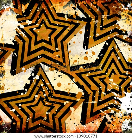 grungy starry background with paint stains