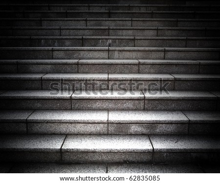 Grungy stone stairway