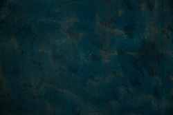 Grungy Texture. Old Weathered Surface. Dark Navy Blue Colour Background