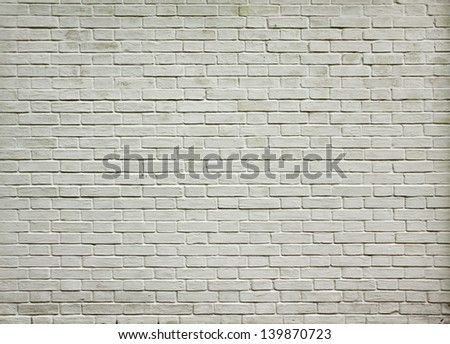 Grungy textured white horizontal stone and brick paint architecture wall inside old neglected and deserted interior, masonry and carpentry brickwork concept
