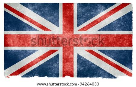 Grungy UK Flag on Vintage Paper