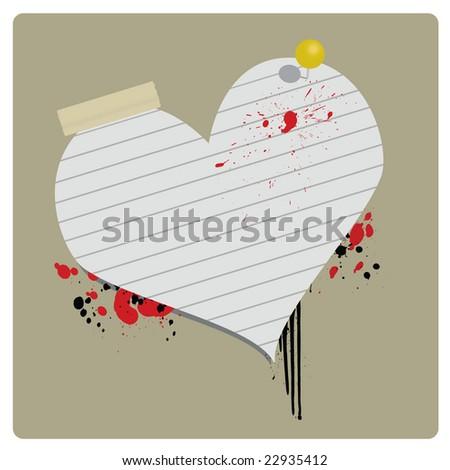Grungy Valentine Banner - Raster Version - stock photo