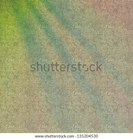 grungy wall with cracked painting, illuminated with colorful light. pastel colors