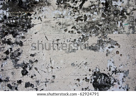 Grungy white wall with cracked