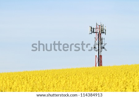Gsm transmitter on a blooming field