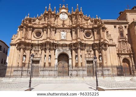 Guadix Cathedral main facade, province of Granada, Spain