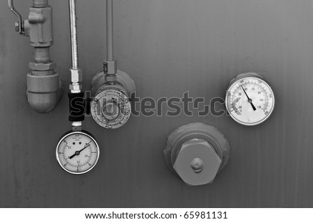 Guages On A Gas Storage Tank