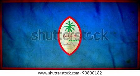 Guam grunge flag - stock photo