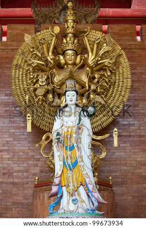 Guan Yin with ten thousand hands - stock photo