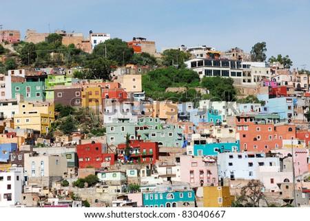Guanajuato, colorful town - stock photo